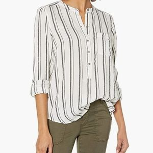 Lucky Brand blue and white striped